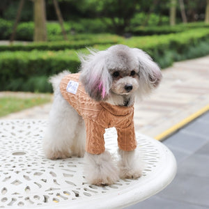 double woven dog sweater
