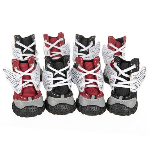 winged angel dog sneakers shoes