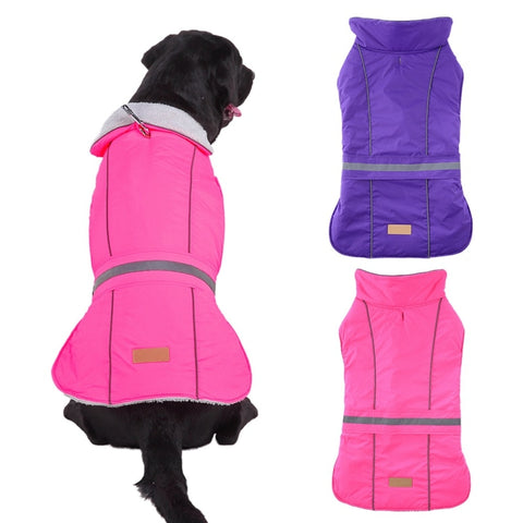 reflective windproof large dog jacket vest