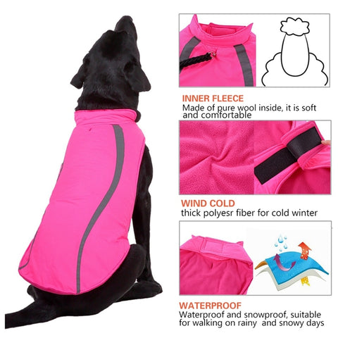 wool lined waterproof large dog jacket vest
