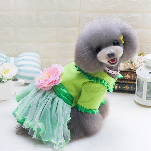 fleece flower tutu dog dress