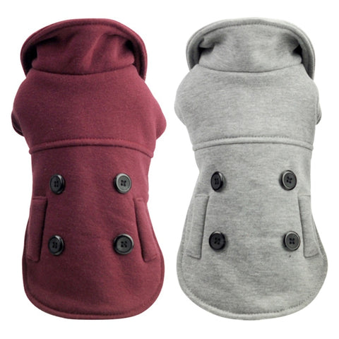buttoned dog overcoat