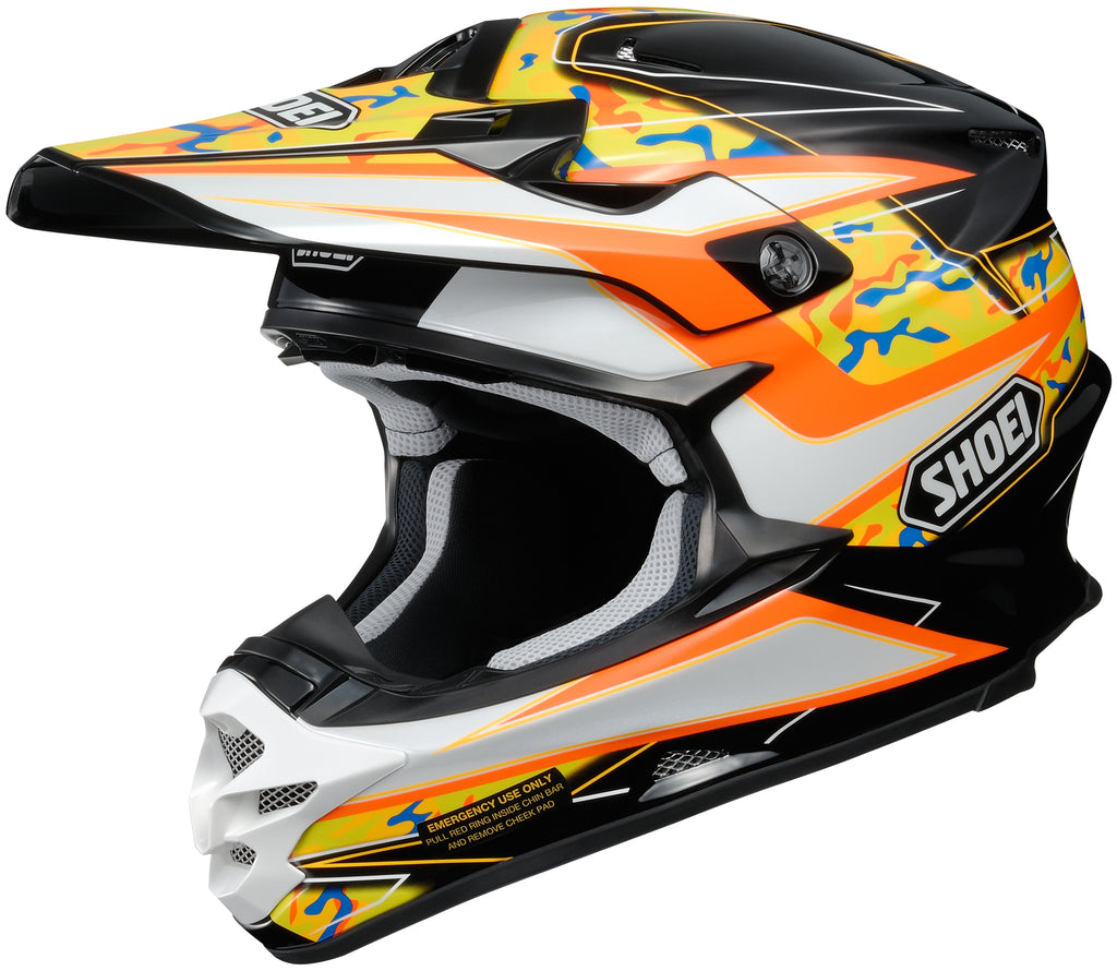 Shoei Vfx-w Turmoil Tc-8 Off Road Helmet Tc8