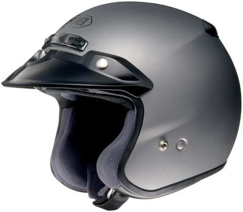 Shoei Rj Platinum R Open Face Helmet Matte Grey