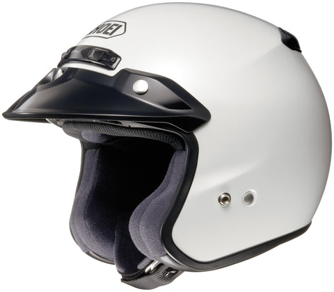 Shoei Rj Platinum R Open Face Helmet Crystal Wht