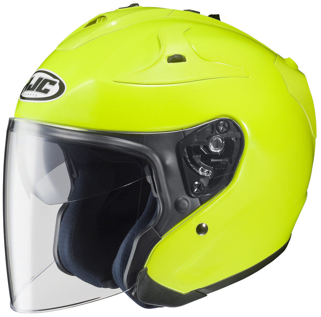 Hjc Fg-jet Hi-viz Open Face Helmet Yellow