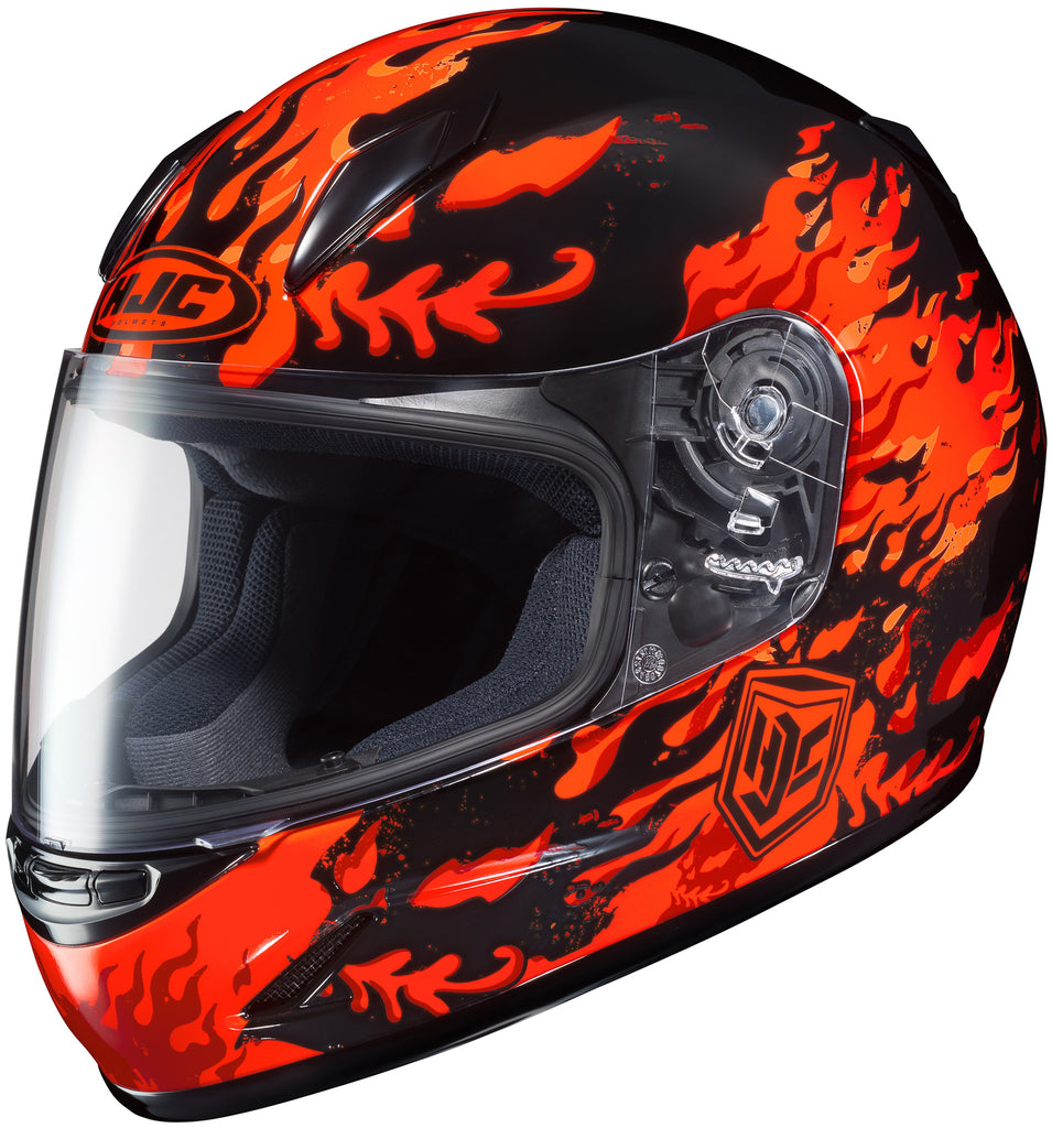 Hjc Cl-y Flame Face Mc-1 Full Face Helmet Mc1