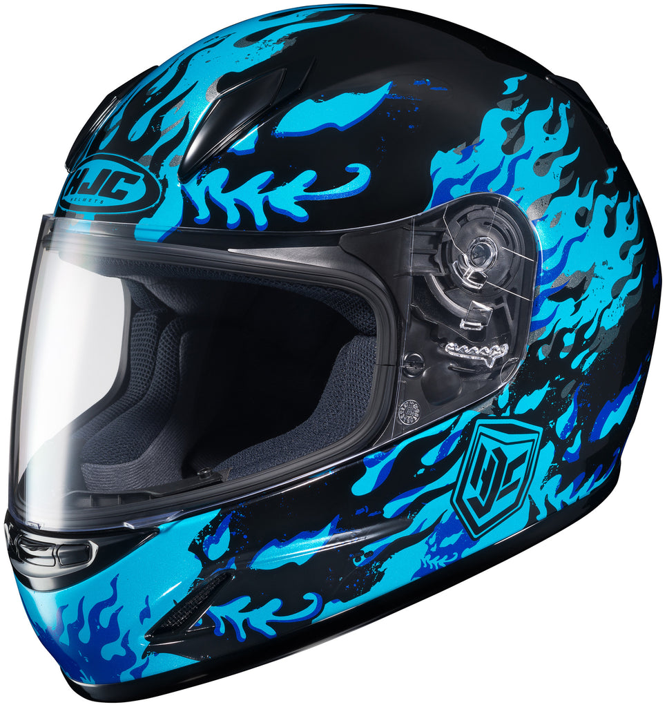 Hjc Cl-y Flame Face Mc-2 Full Face Helmet Mc2