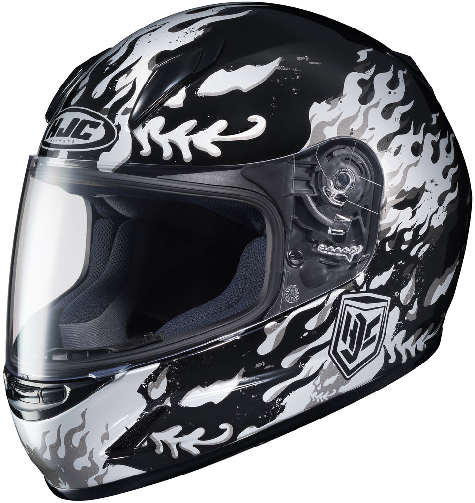 Hjc Cl-y Flame Face Mc-5 Full Face Helmet Mc5
