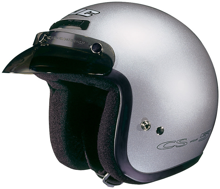 Hjc Cs-5n Cr Open Face Helmet Silver