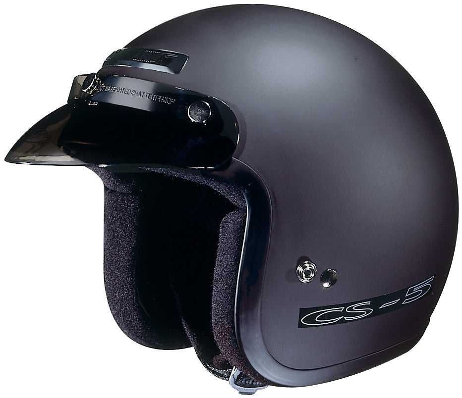 Hjc Cs-5n Open Face Helmet Flat Black