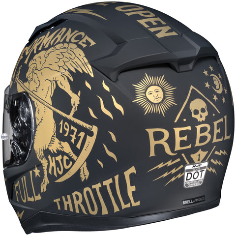 Hjc Cl-17 Rebel Mc-9f Full Face Helmet