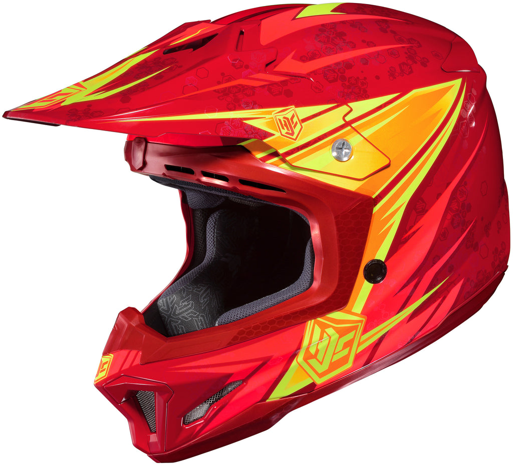 Hjc Cl-x7 Pop-n-lock Mc-1 Off Road Helmet Mc1