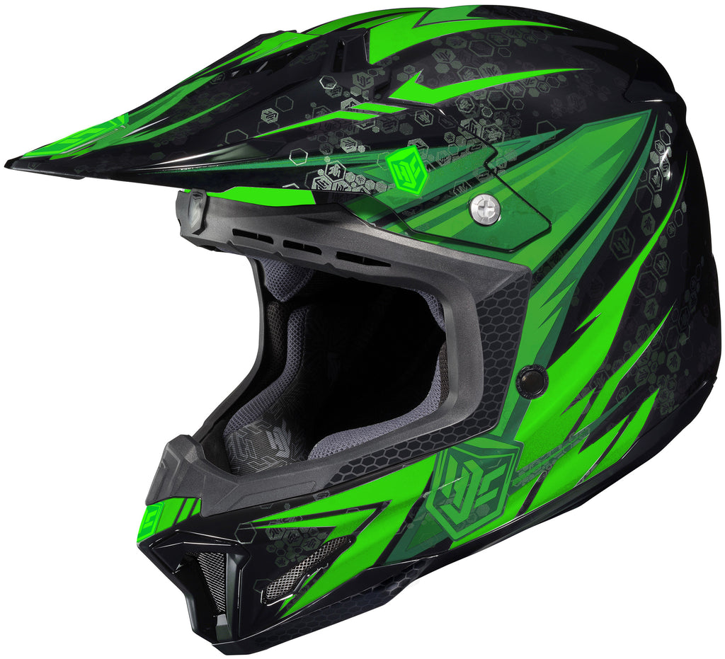 Hjc Cl-x7 Pop-n-lock Mc-4 Off Road Helmet Mc4