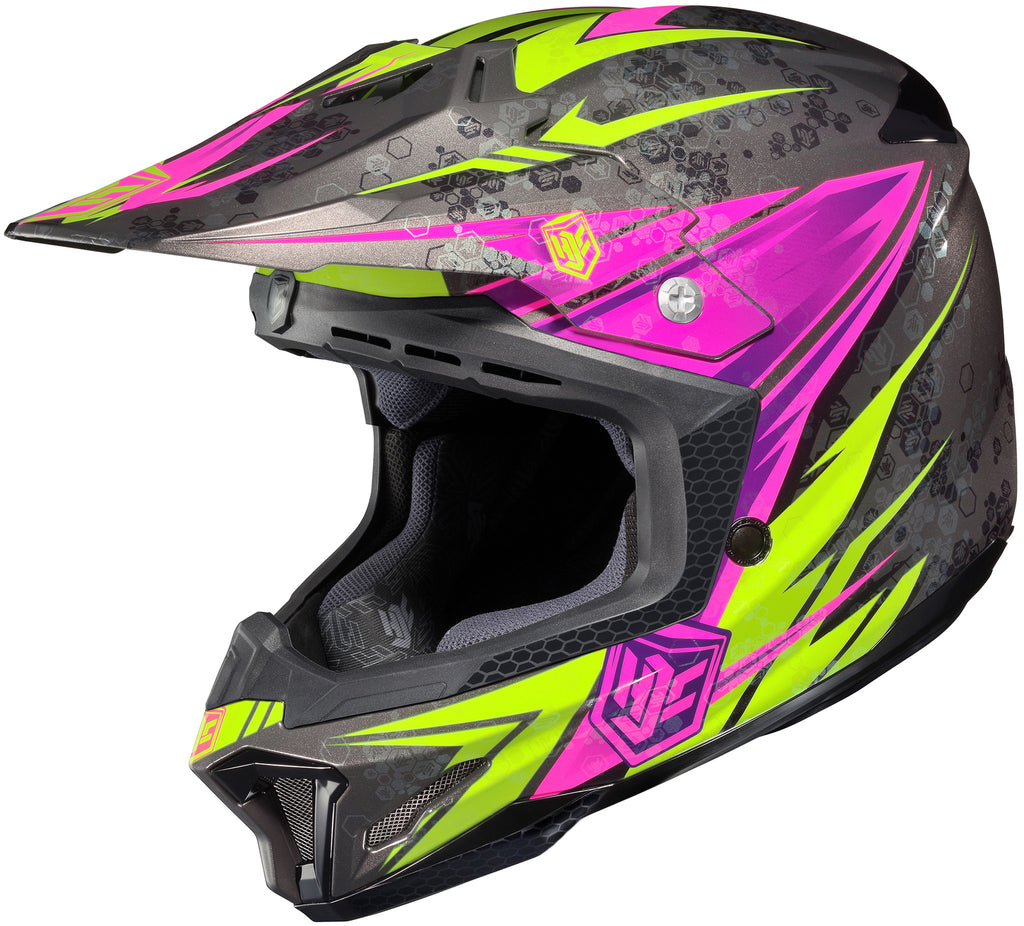 Hjc Cl-x7 Pop-n-lock Mc-8 Off Road Helmet Mc8
