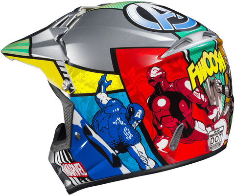 Hjc Cl-xy 2  Marvel Avengers Mc-21 Off Road Youth Helmet