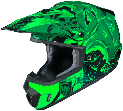 Hjc Cs-mx 2 Graffed Mc-4 Off Road Helmet Mc4