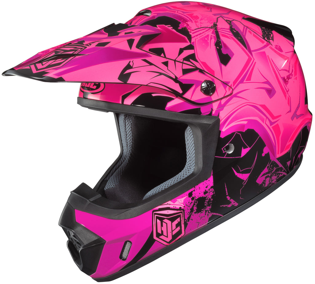 Hjc Cs-mx 2 Graffed Mc-8 Off Road Helmet Mc8