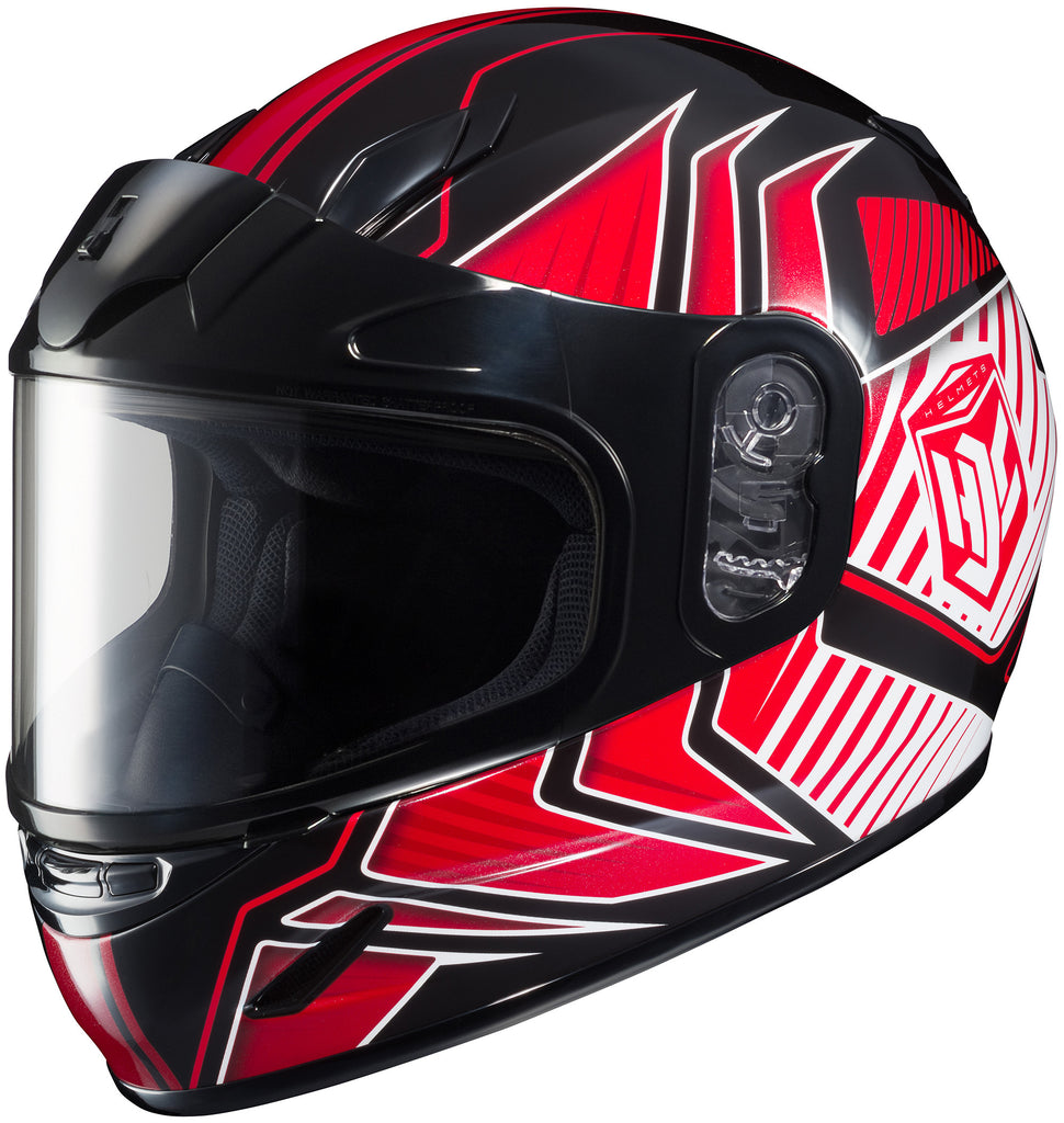 Hjc Cl-y Redline Snow Mc-1 Full Face Helmet Mc1