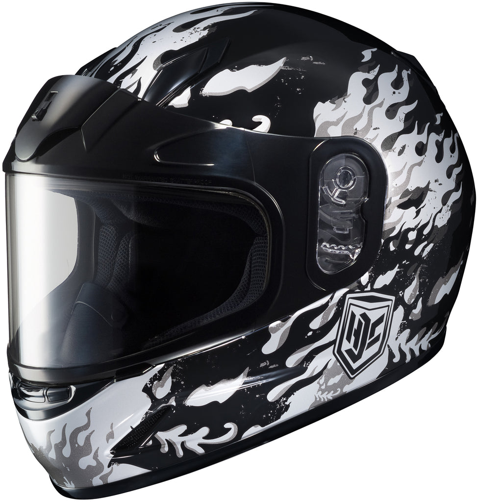 Hjc Cl-y Flame Face Snow Full Face Helmet Mc5