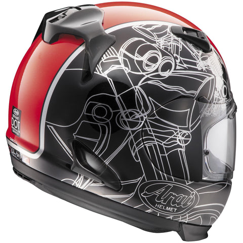 Arai Defiant Chopper Red Helmet