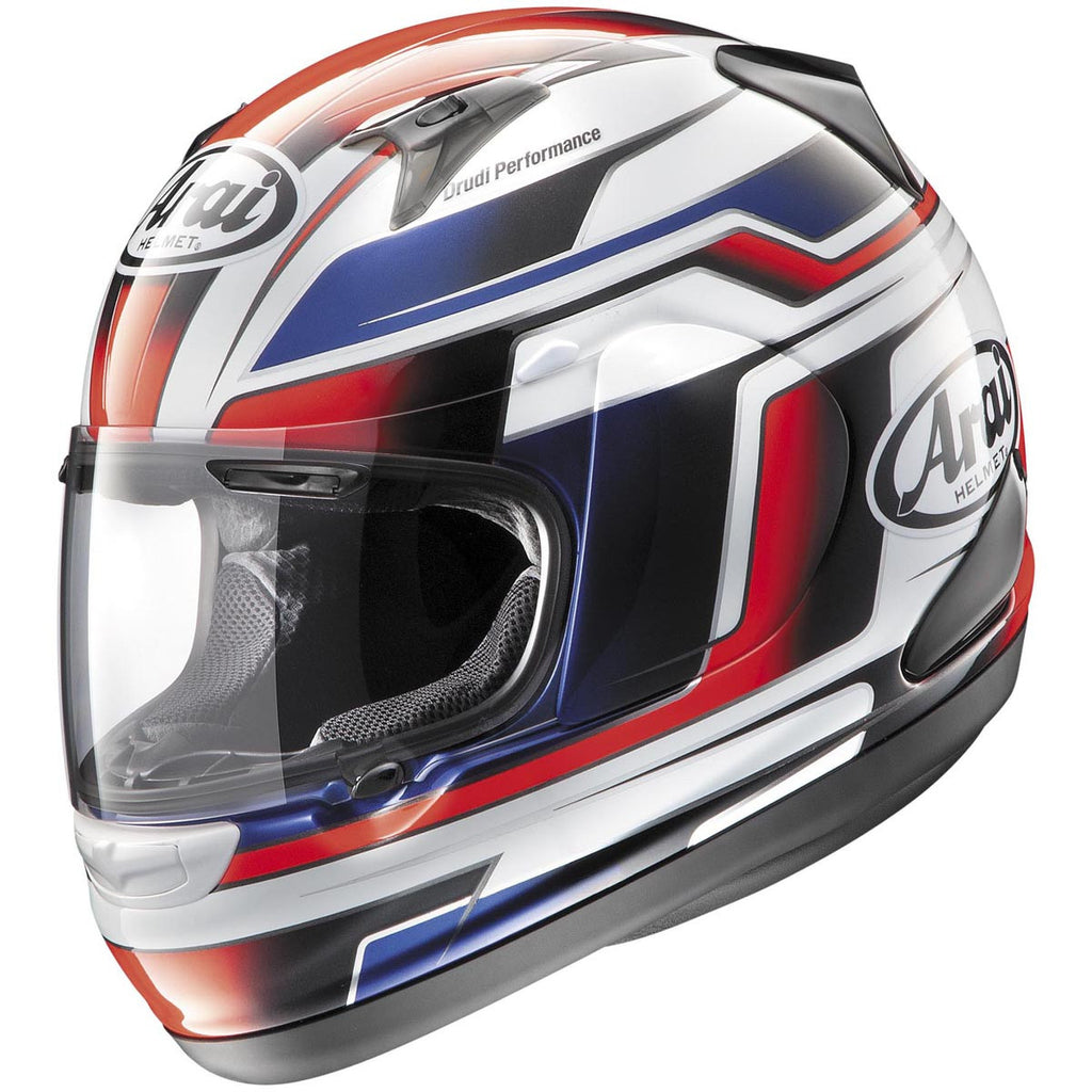 Arai RX-Q Electric White/Red Helmet - HelmetOnline  - 1