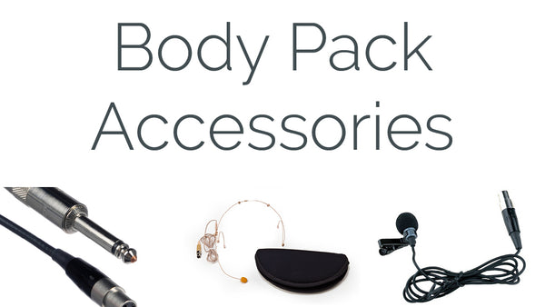Carvin Wireless Microphone Body Pack Accessories