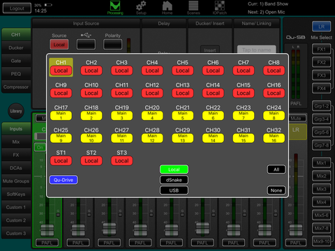qu-pad images for allen&heath qu series digital mixing consoles
