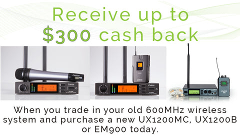 carvin 600mhz wireless microphone trade in offer