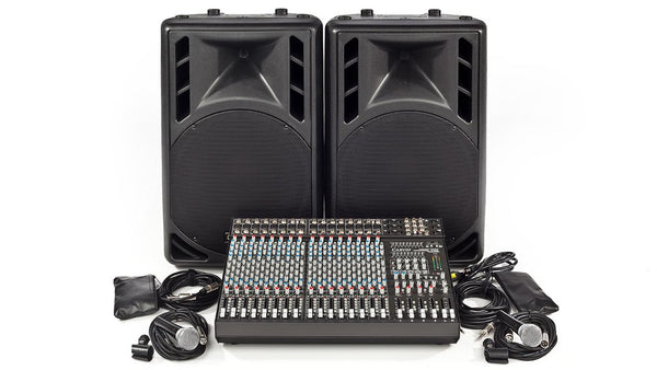 Carvin Audio C1648P-PM15 1600W powered Complete PA System
