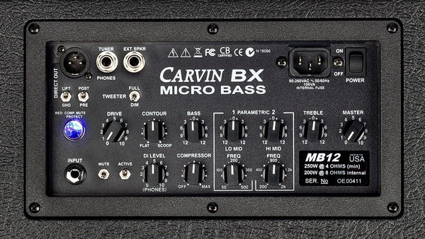 Carvin MB12 300 watt 3-way bass combo amp