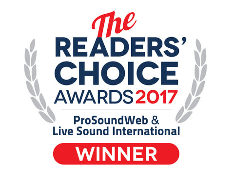 The Stagemate Battery Powered System Wins Reader's Choice Award