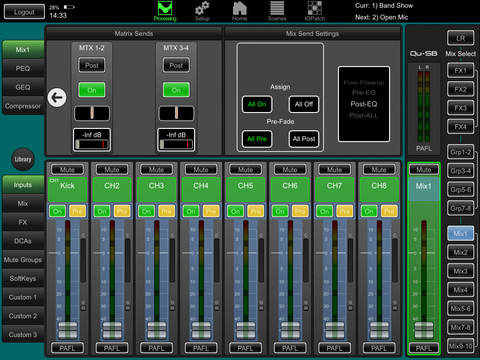 mix routing for qu-pad images for allen&heath qu series digital mixing consoles