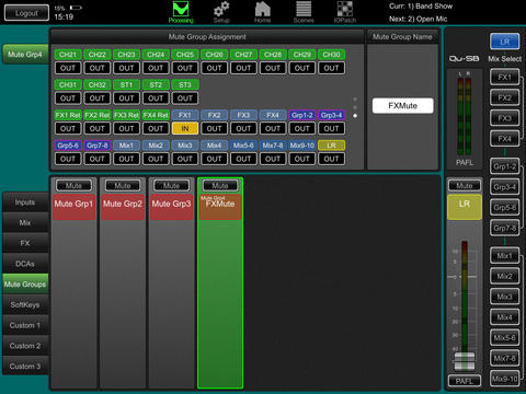 mute group assign qu-pad images for allen&heath qu series digital mixing consoles