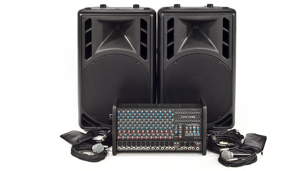 Carvin Audio RX1200L-PM15 Powered Sound System Package