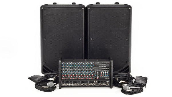 Carvin Audio RX1200L-PM153 Powered Sound System Package