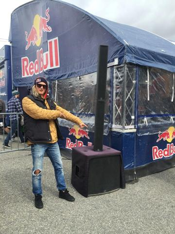 Red Bull 400 showing half of theTRC400A sound system