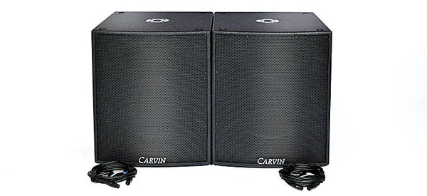 Carvin Audio SCX SUBA 2800W Active Sub woofer package