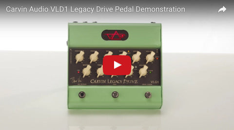 Carvin Audio Vai VLD1 Legacy Drive Pedal Demonstration Video