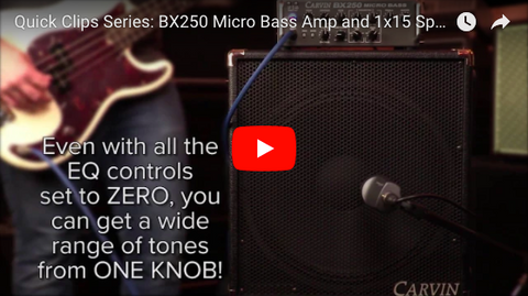 Quick Clips: BX250 Micro Bass Amp and 1x15 Cab