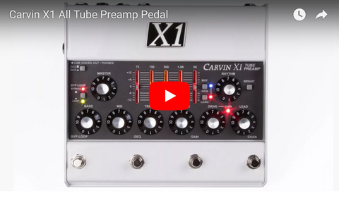 X1 All Tube Preamp Pedal Demo Video