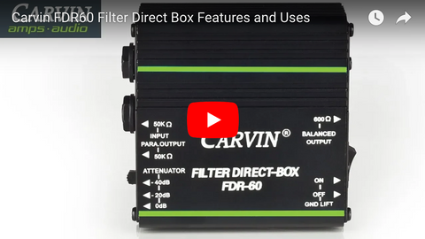 Carvin Audio FDR60 Direct Box Demo Video