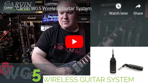 WG5 Wireless Guitar System Video Review by The Tone King