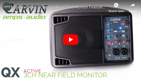 QX5A Active 3 Channel Near Field Monitor Demo Video