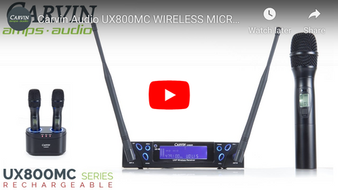 UX800MC Wireless Microphone Demo Video