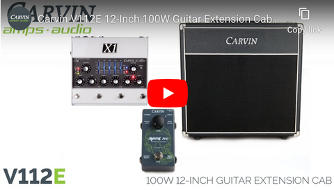 V112E 1x12 Guitar Extension Cabinet Demo Video