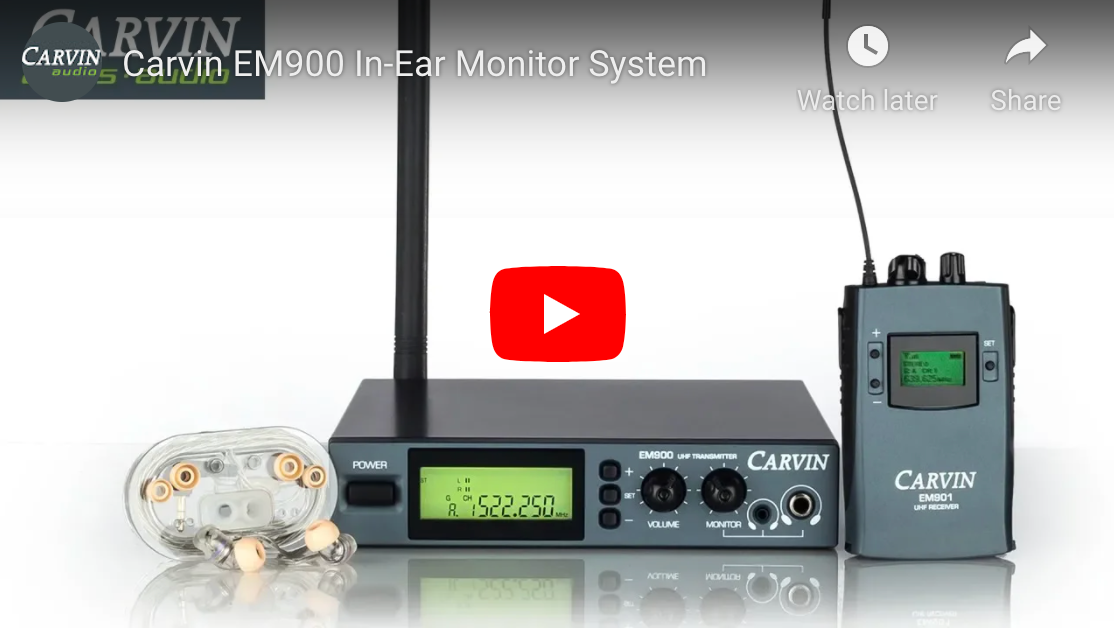 EM900 Wireless In-Ear Monitor System Demo Video