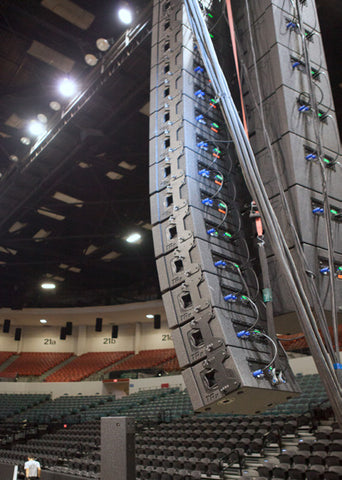 Sports area concert line array system