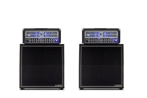 Two VX412T and V3 heads for a stereo 200W tube amplifier rig