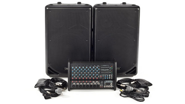 Carvin Audio XP1000L-PM153 Powered Sound System Package